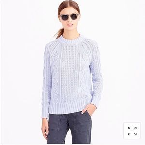 J. Crew Cotton Cable Knit Sweater